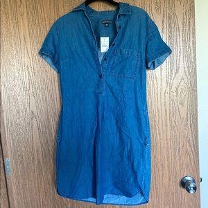 J. Crew Denim Dress with pockets NWT
